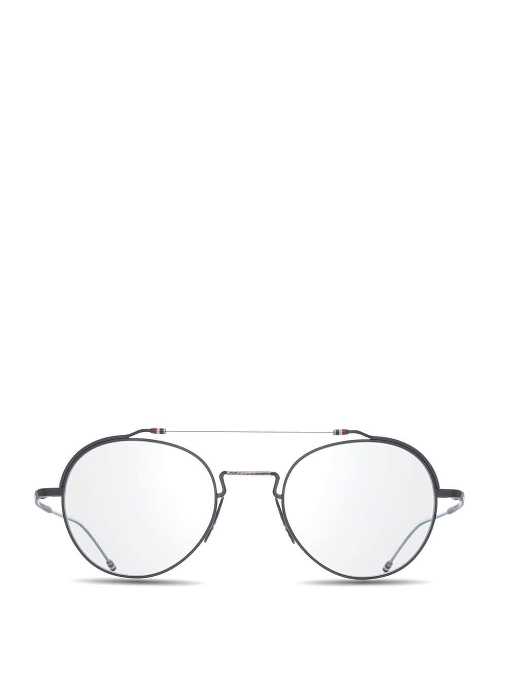 fb84a6066a6f Thom Browne - Black Iron   Silver Glasses for Men - Lyst. View fullscreen