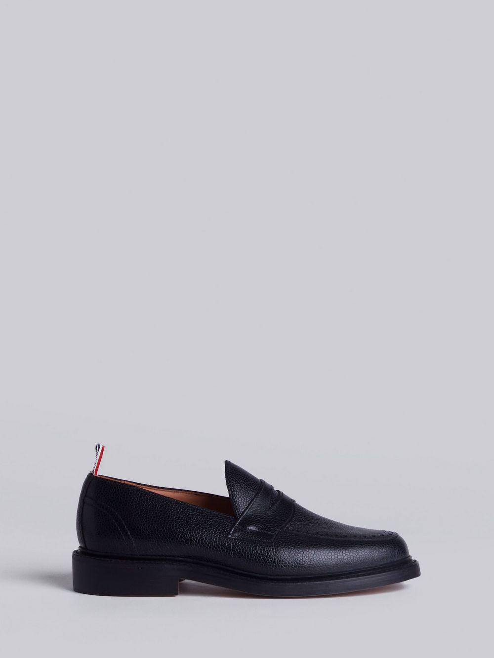 71910cd9b6f Thom Browne - Penny Loafer With Leather Sole In Black Pebble Grain for Men  - Lyst. View fullscreen
