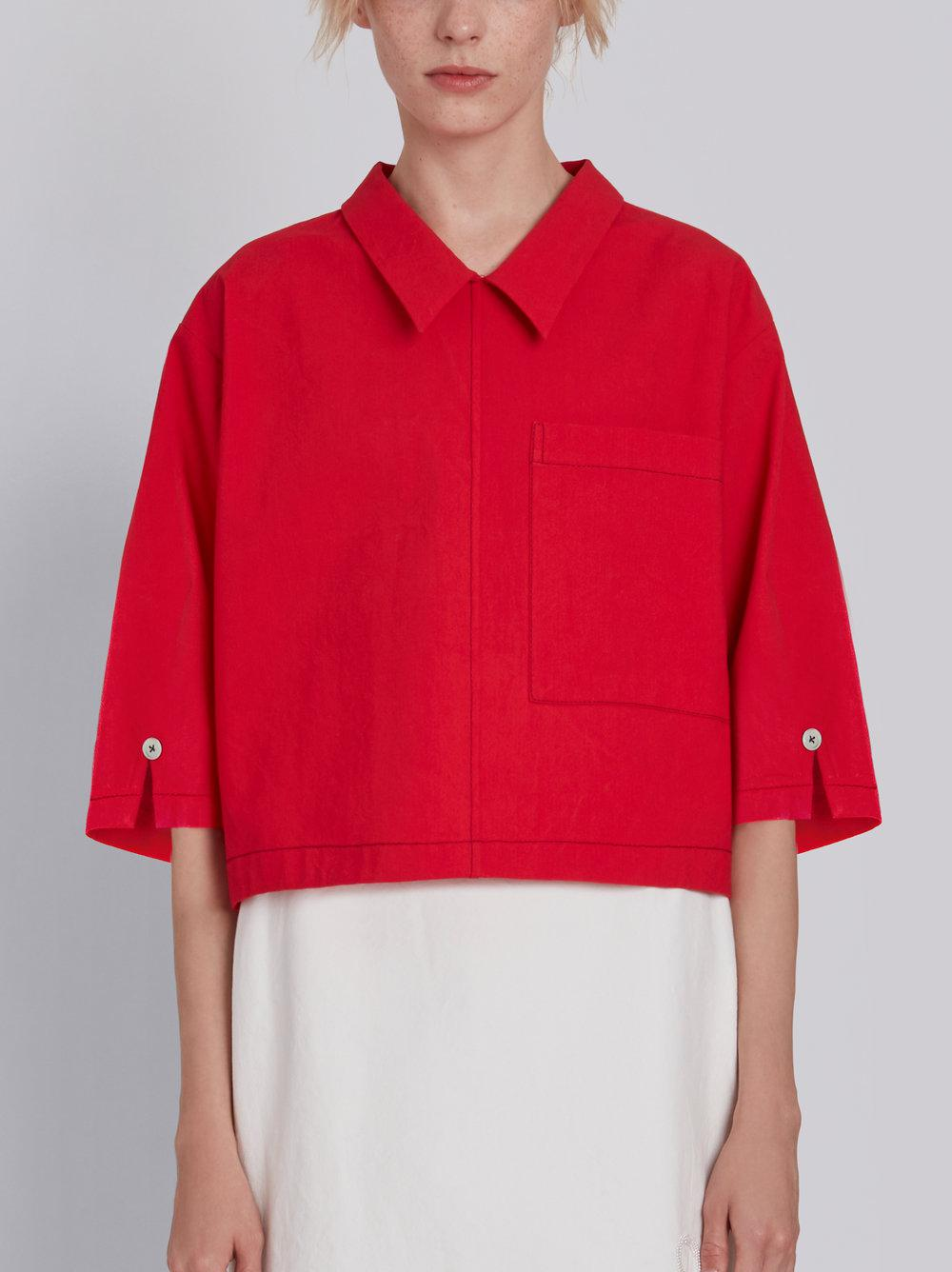 Very Cheap For Sale Red Button Back Blouse Thom Browne Prices For Sale Cheap Fashion Style Buy Cheap 100% Original CWWpotR