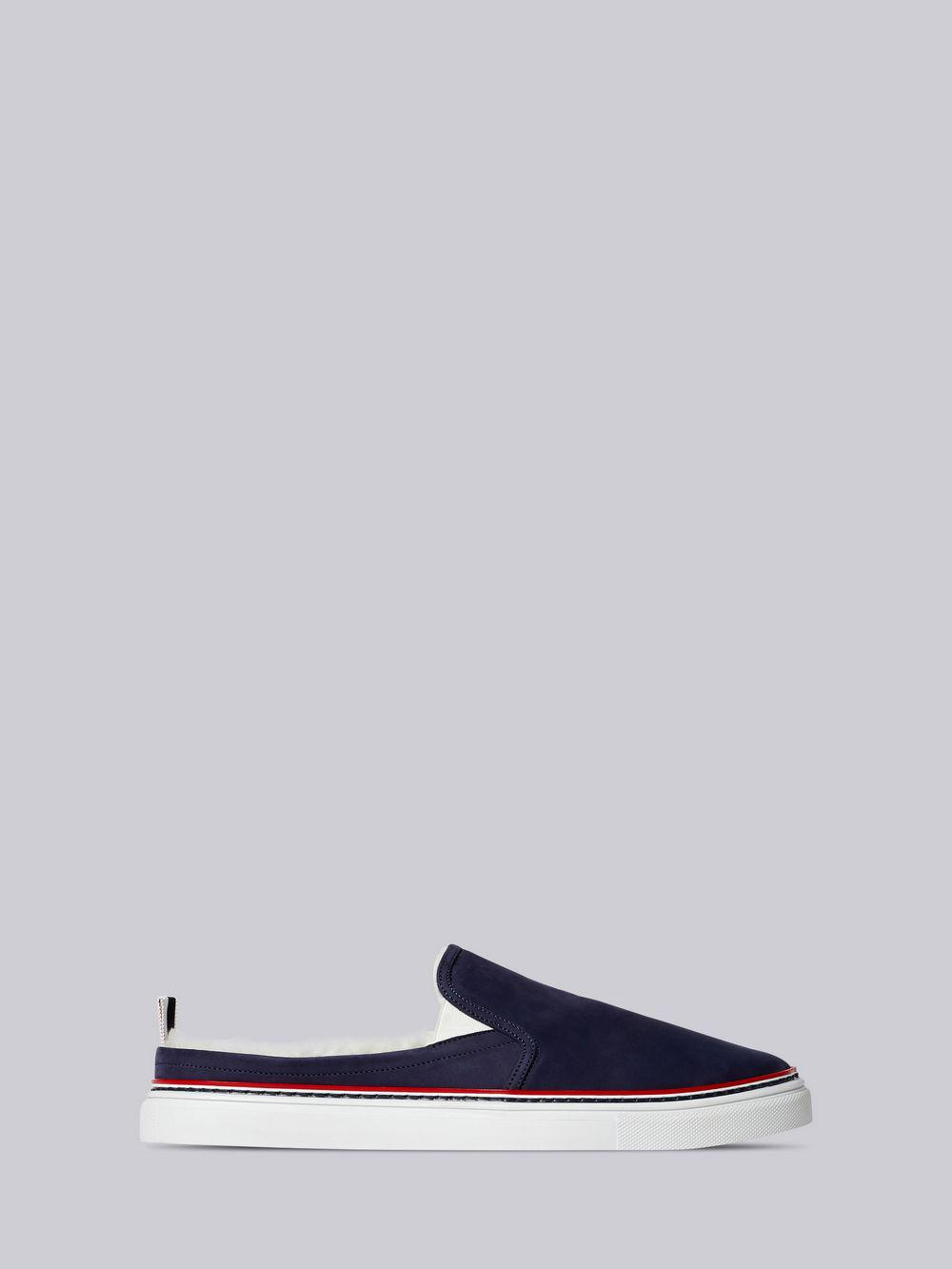 c3cb98419c8 Thom Browne Shearling Lining Trainer Slide in Blue for Men - Lyst