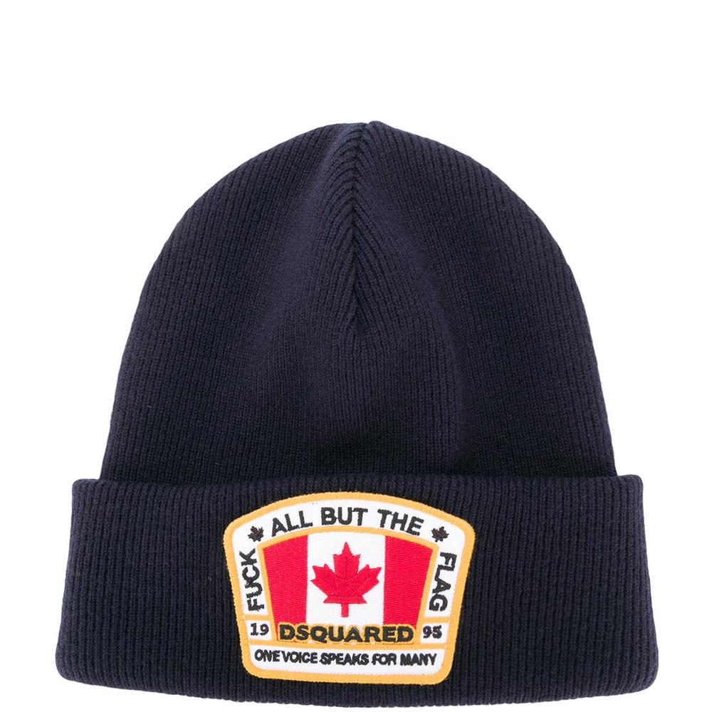 f232e17a02b Lyst - DSquared² 2 Canada Flag Knit Hat Navy in Blue for Men