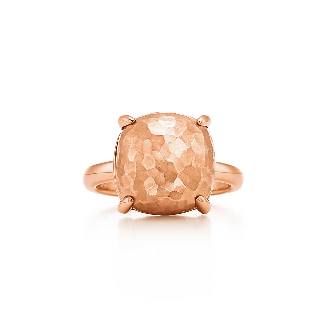 8b6ee4e09 Tiffany & Co. Paloma's Sugar Stacks Hammered Ring In 18k Rose Gold ...