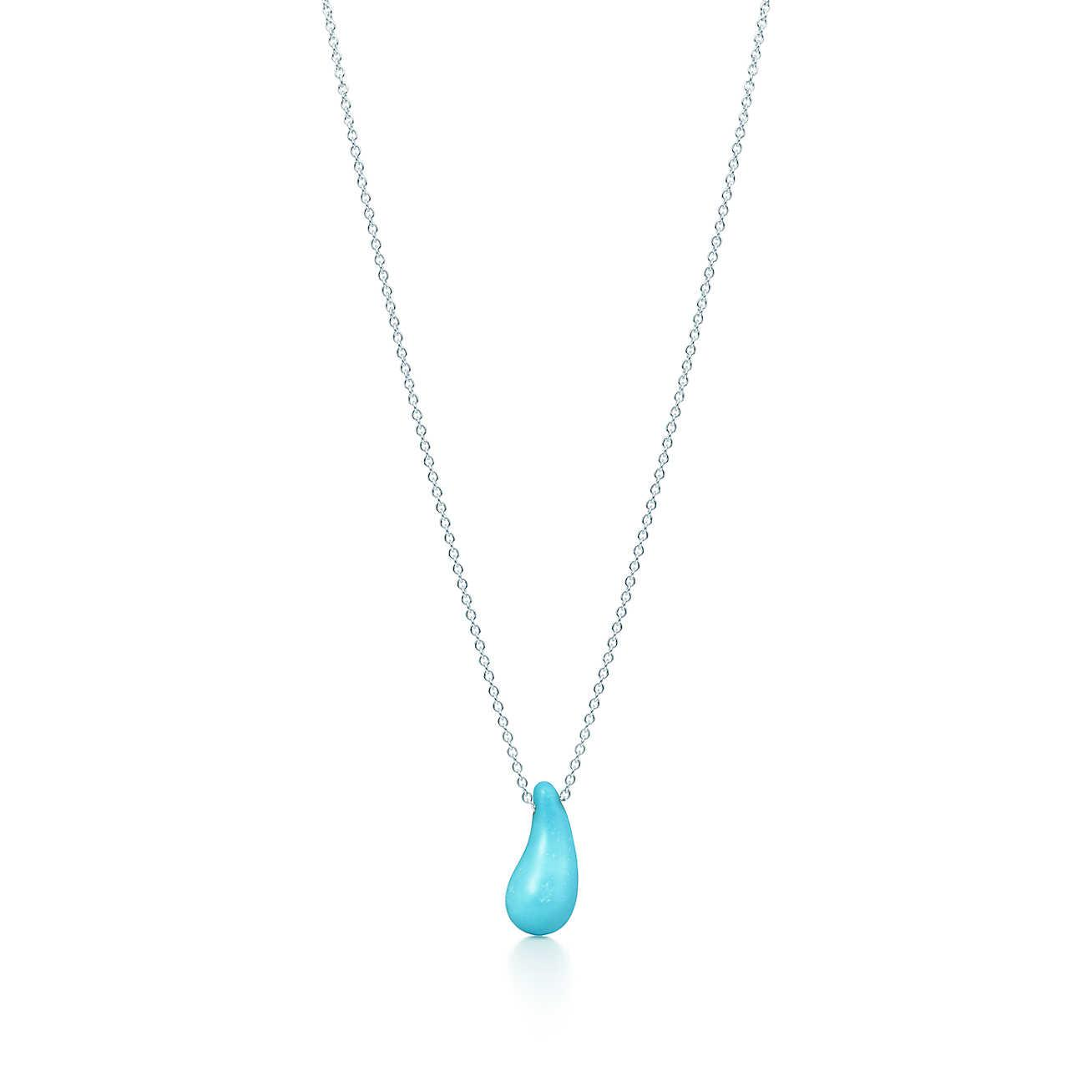 e5c33d792 Tiffany Co Teardrop Pendant In Metallic Lyst. Tiffany Co Teardrop Necklace