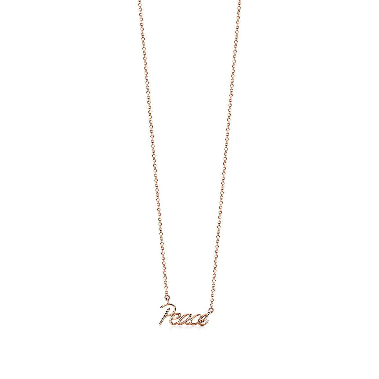 Palomas Graffiti kiss pendant in 18ct rose gold, mini Tiffany & Co.