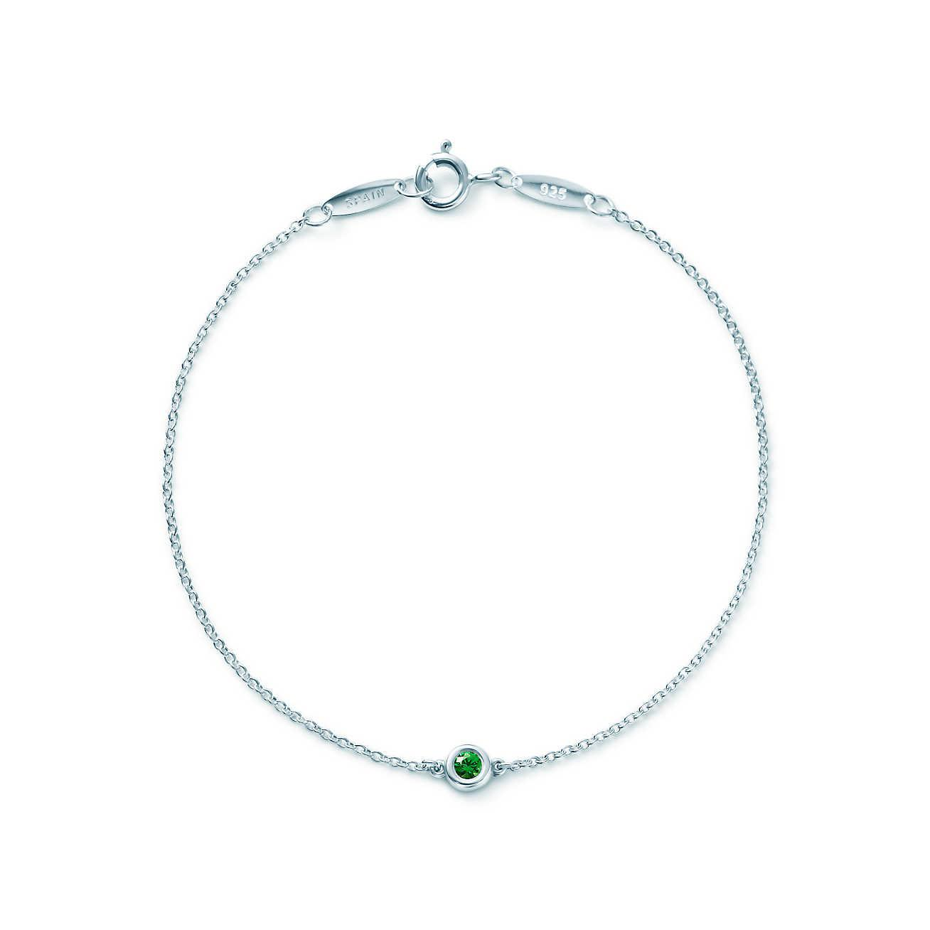 Elsa Peretti Color by the Yard bracelet in silver with green aventurine Tiffany & Co. LuP3k