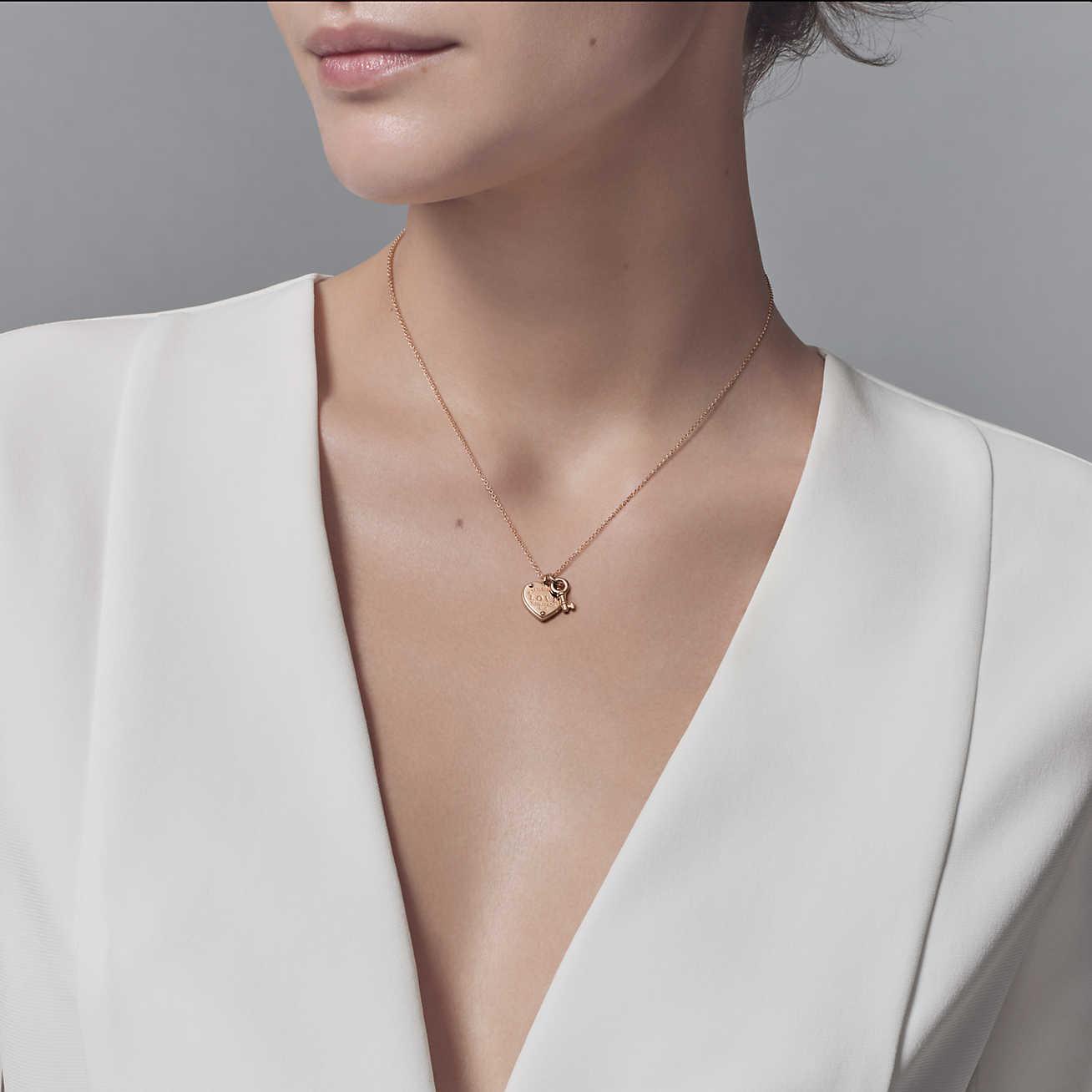 032b9c6f8 Tiffany & Co. Return To Tiffanytm Love Heart Tag Key Pendant In 18k ...