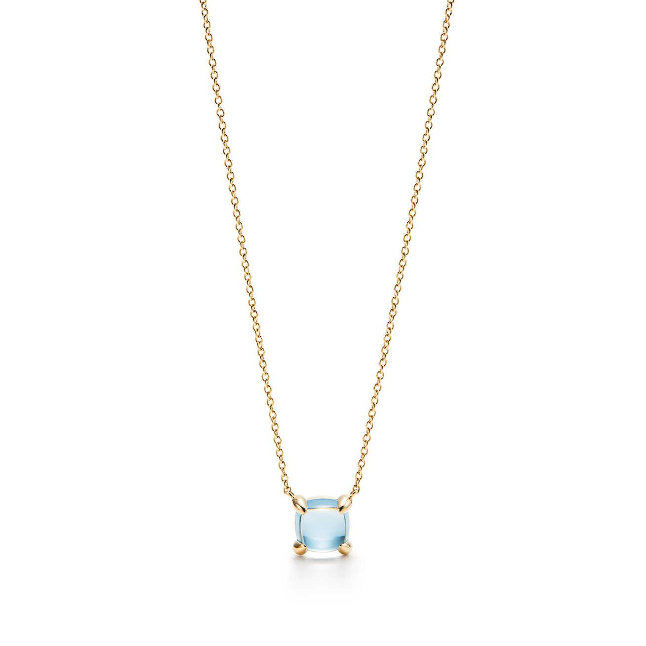 39504b5f1 Tiffany & Co. Paloma's Sugar Stacks Pendant In 18k Gold With A Blue ...