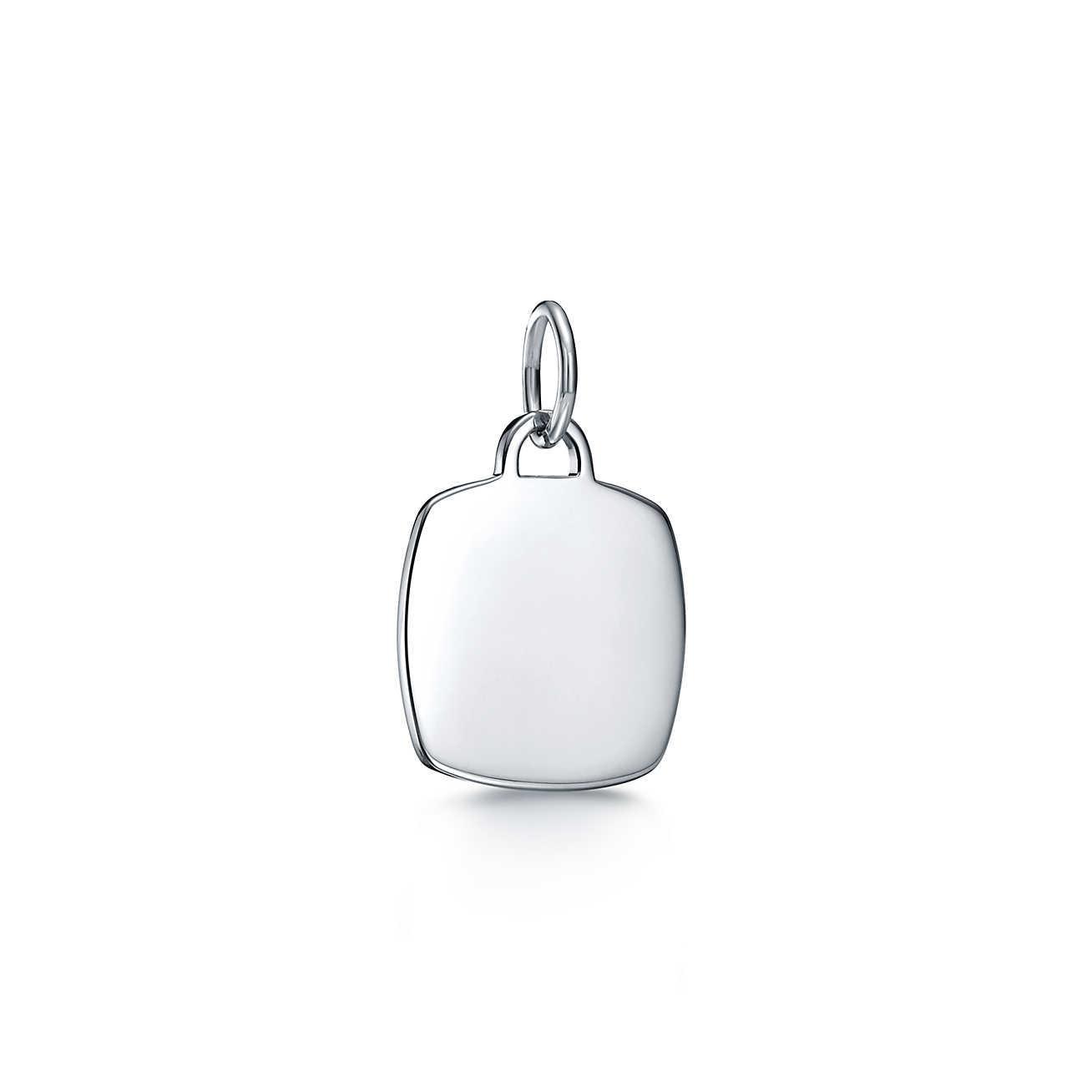 80cc507eddb4 Tiffany   Co. Tiffany Charms Cushion Tag Charm In Sterling Silver ...