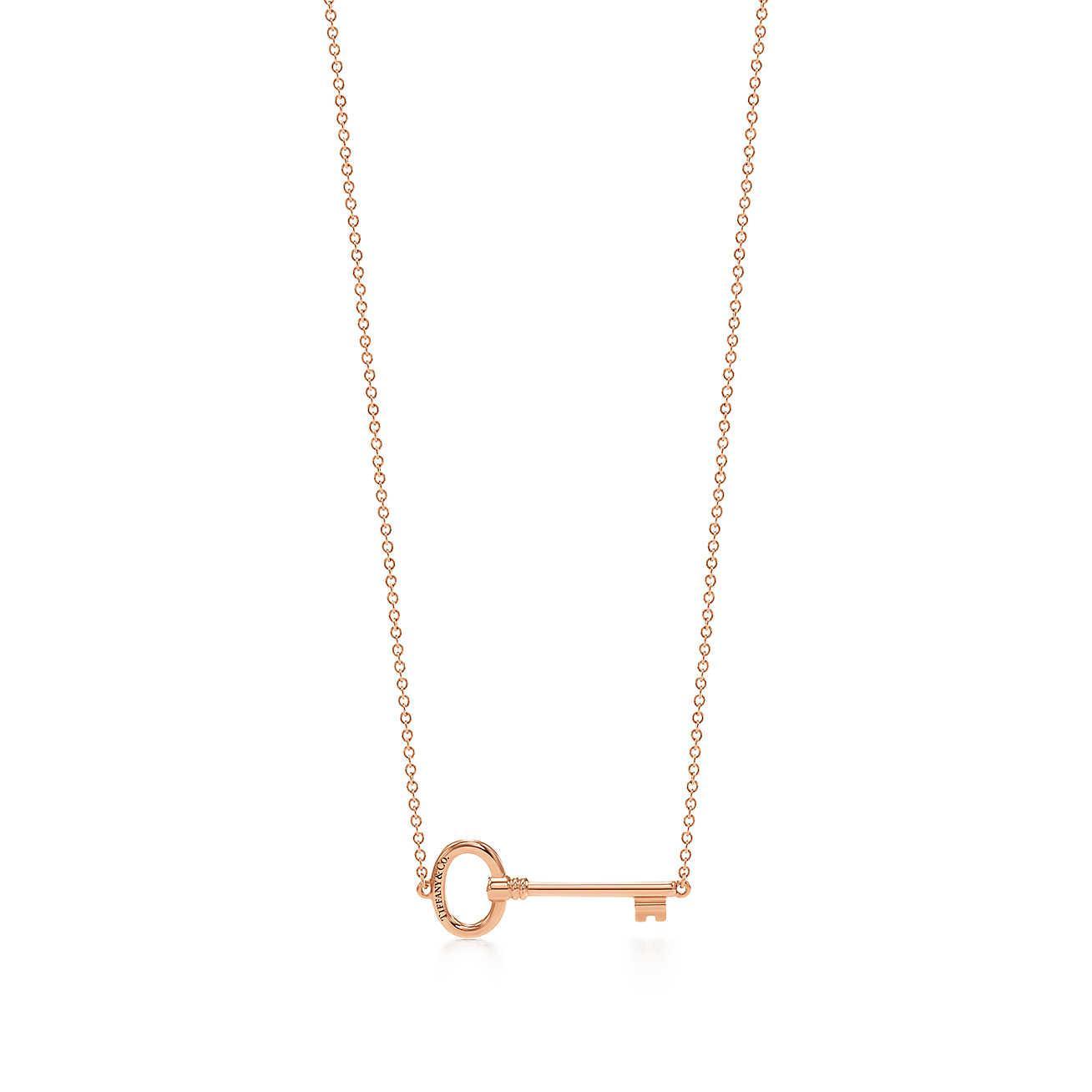 Tiffany Keys east-west heart pendant in 18k rose gold Tiffany & Co. pcxPj