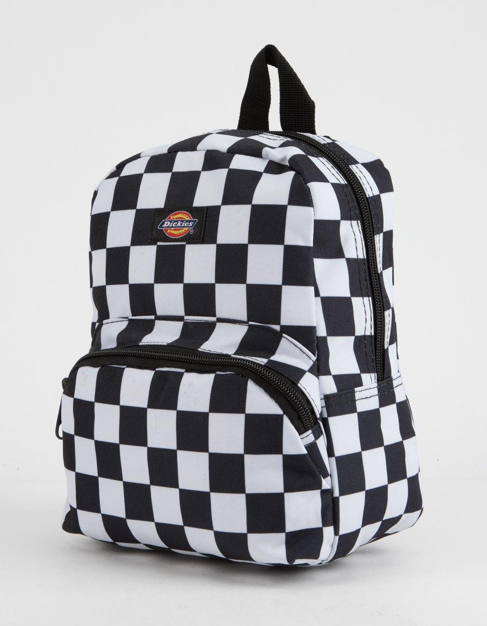 3bae4d7ee Dickies Black And White Checkered Backpack | The Shred Centre