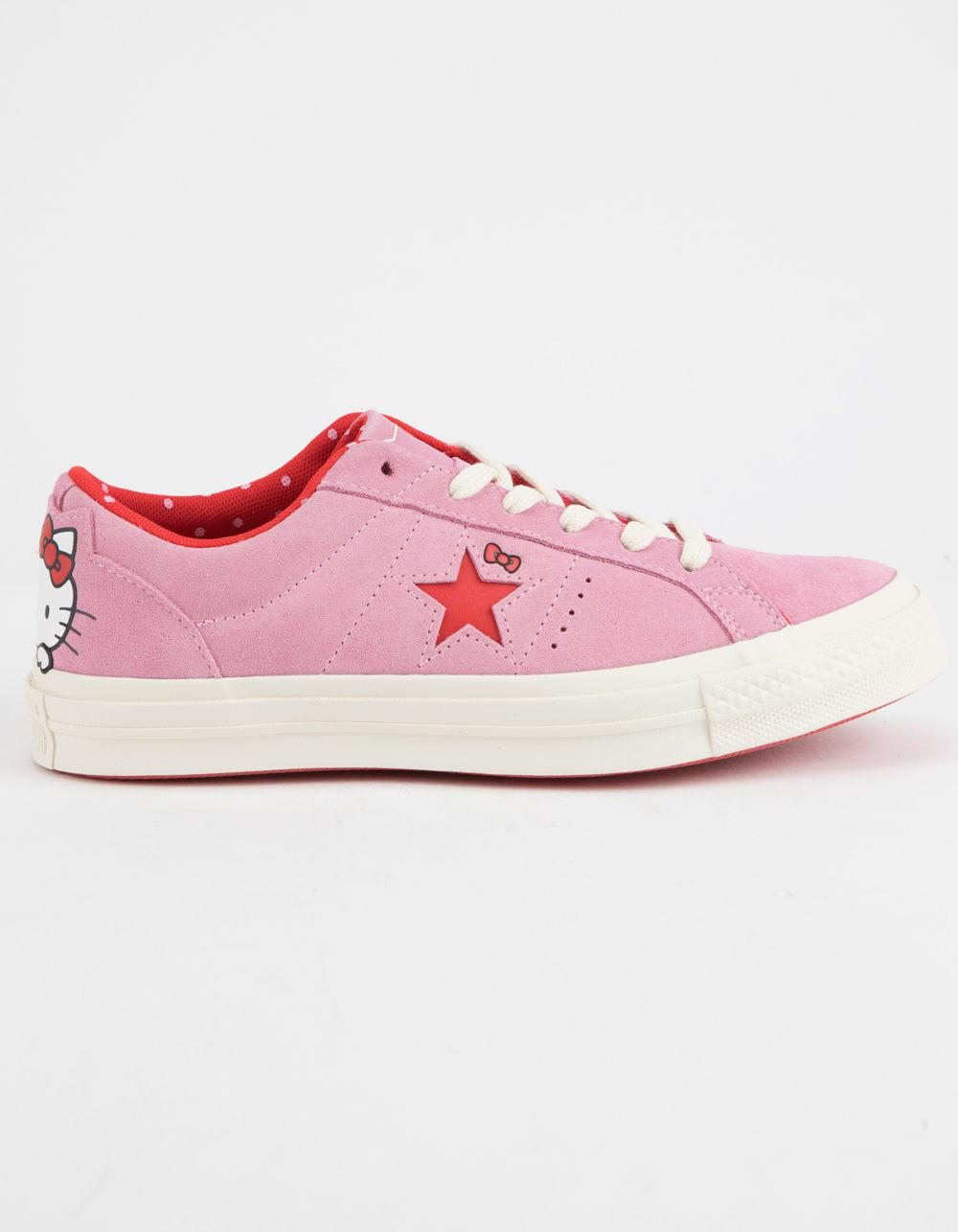 c677c5a69c7e7f Lyst - Converse X Hello Kitty One Star Prism Pink   Firey Red Womens ...
