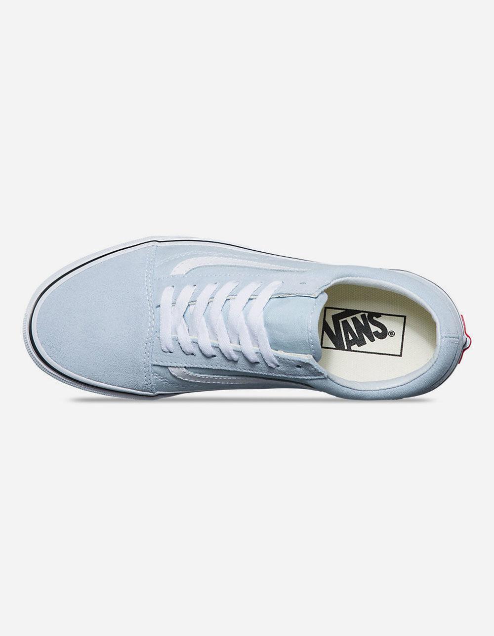 Lyst - Vans Old Skool Baby Blue   True White Womens Shoes in Blue 7ad84edc2