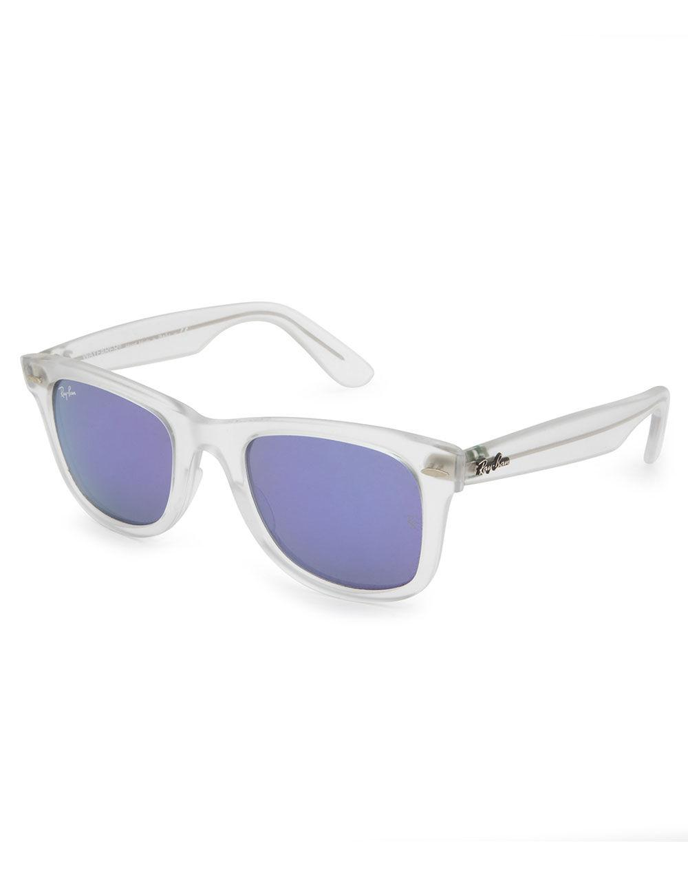 d9006dae2da Ray-Ban. Women s Purple Wayfarer Ease Transparent   Violet Mirror Sunglasses