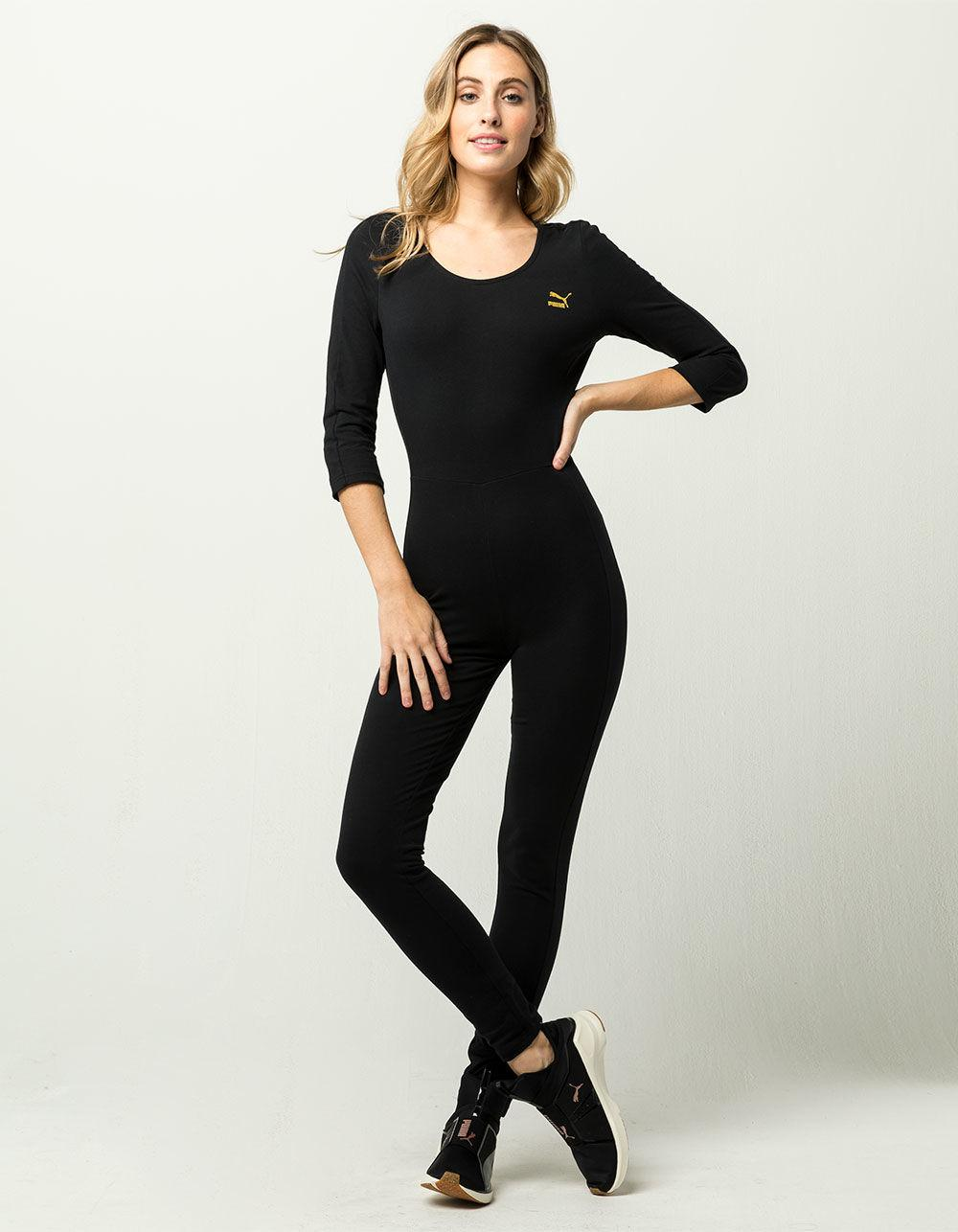 211a98bc1838 Lyst - PUMA T7 Womens Jumpsuit in Black