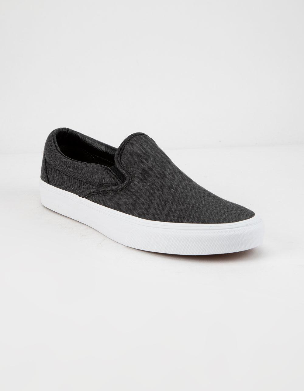 Lyst - Vans Herringbone Classic Slip-on Mens Shoes in Black for Men - Save  8% c3ec56bfb