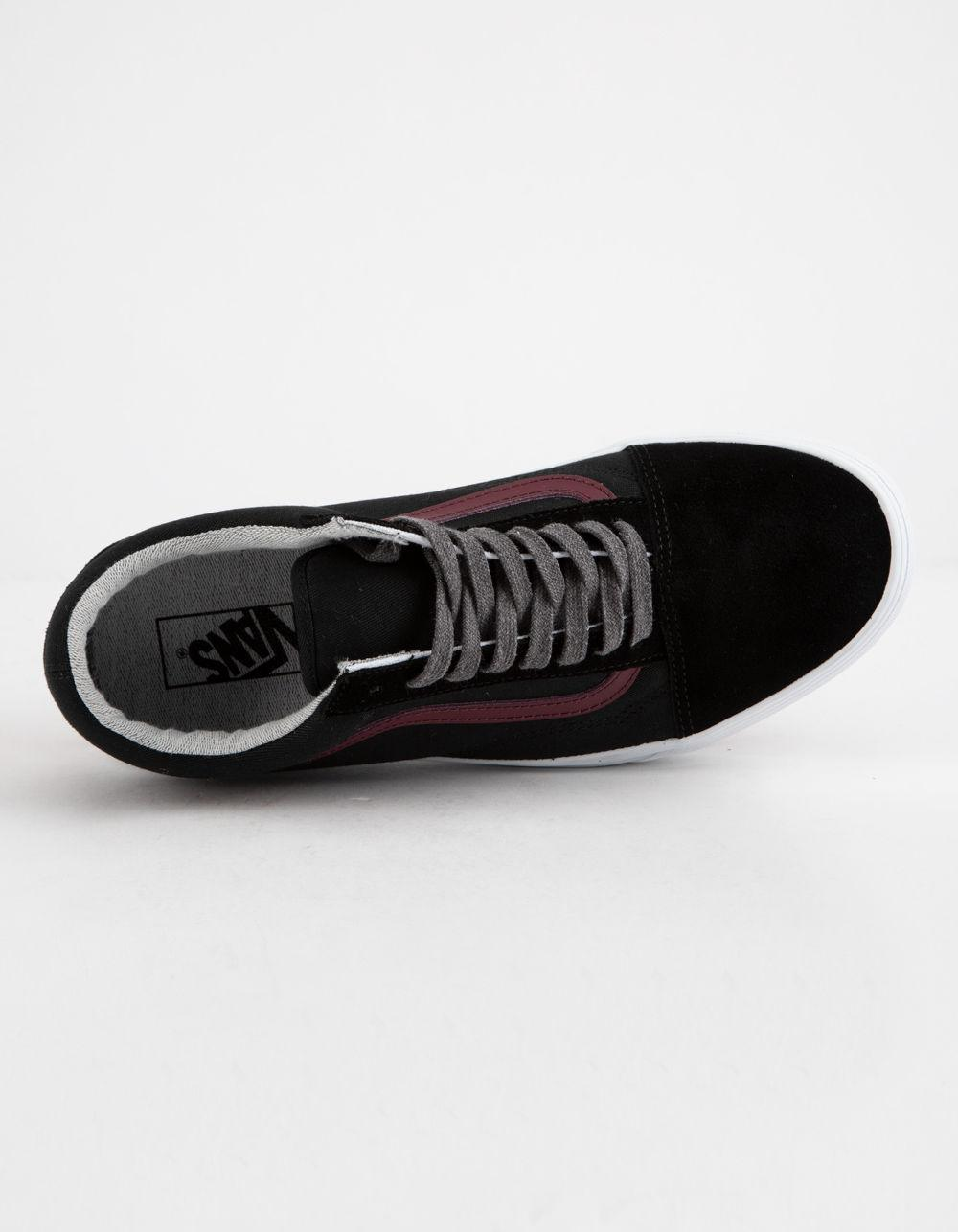 ab263ddd51 Lyst - Vans Jersey Lace Old Skool Black   Port Shoes in Black for Men