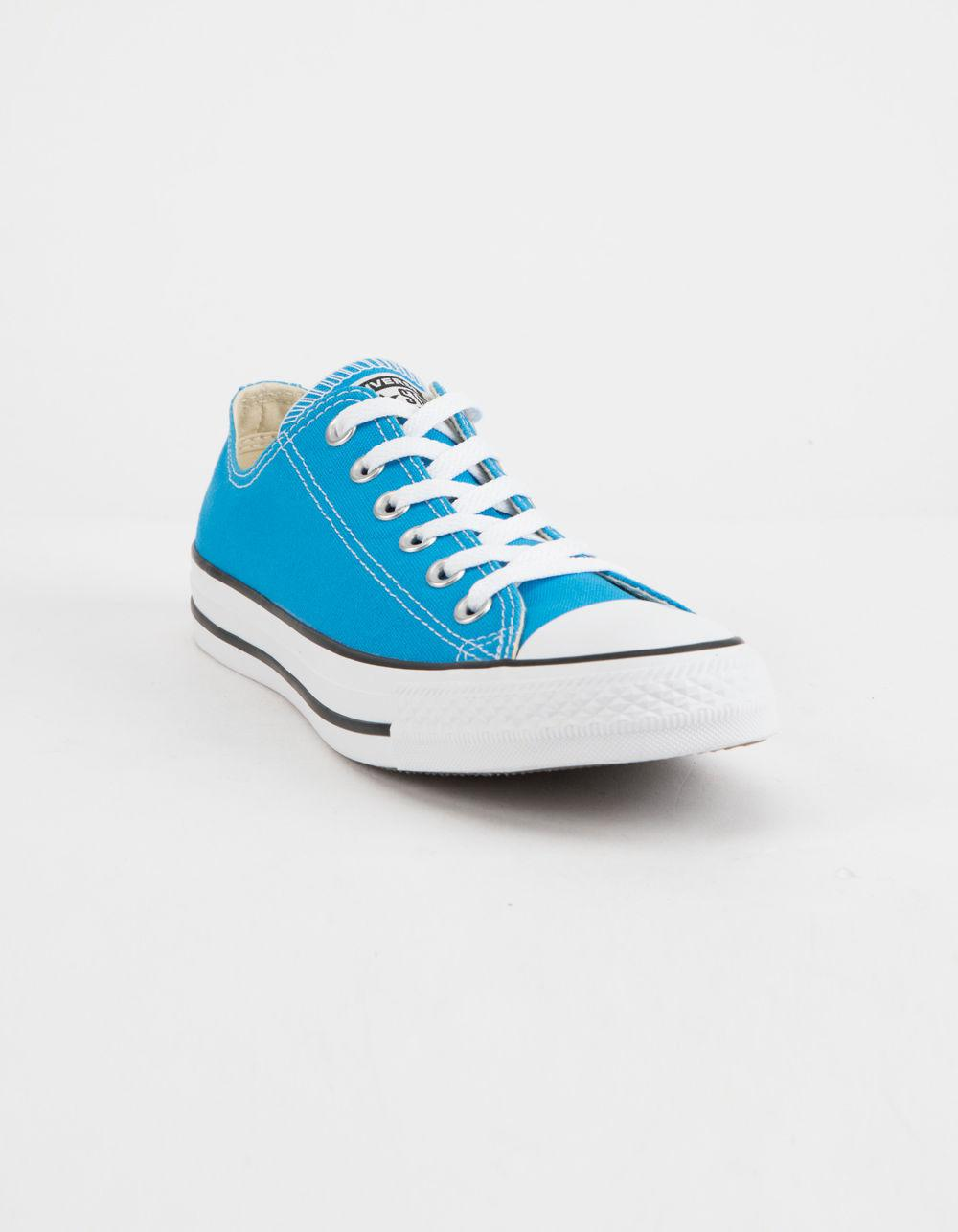 Lyst - Converse Chuck Taylor All Star Blue Hero Low Top Womens Shoes in Blue 7502753e9