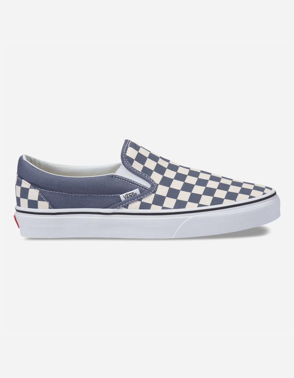Vans - Checkerboard Grisaille   True White Classic Slip-on Shoes for Men -  Lyst. View fullscreen af6b41056