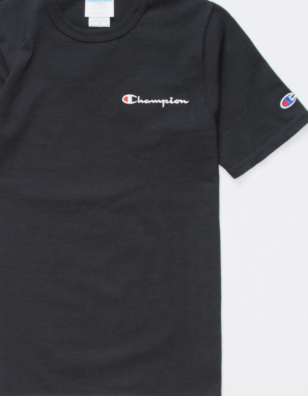dc633bf86 Champion Life® Tee, Embroidered Script Logo in Black for Men - Save 47% -  Lyst