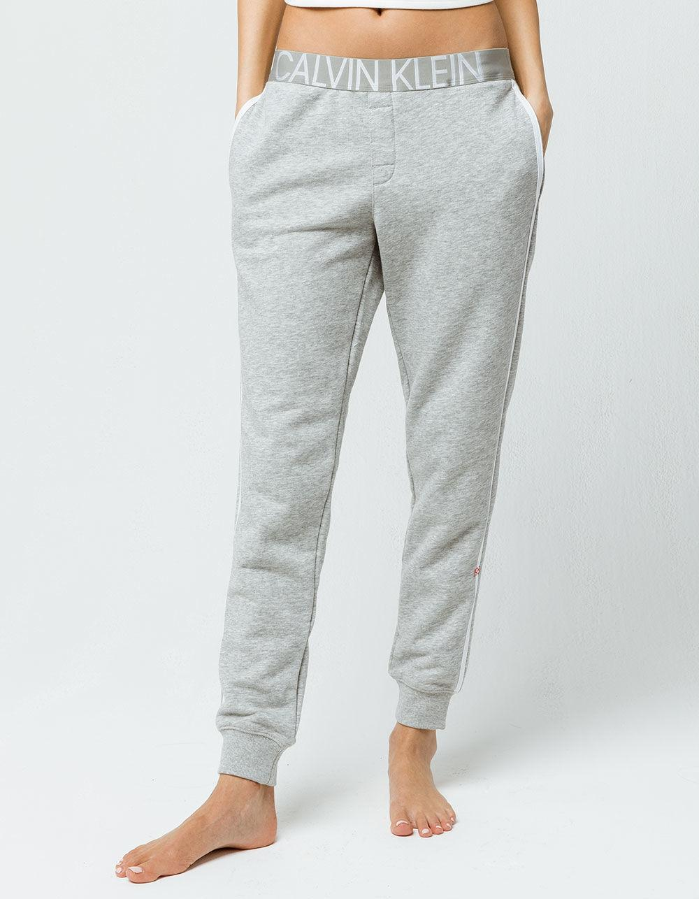 Lyst - Calvin Klein Lounge Heather Gray Womens Jogger Pants in Black c75529d3f