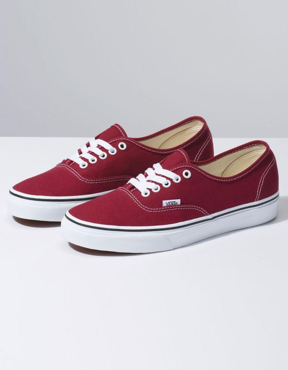 Lyst - Vans Authentic Rumba Red   True White Shoes in Red - Save 61% 9d0620687
