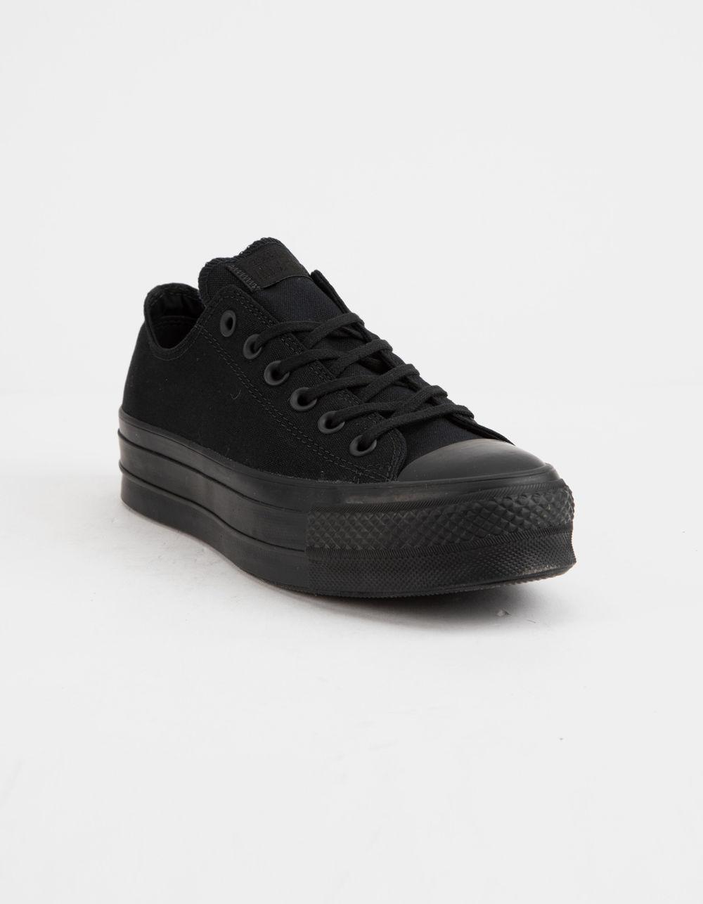 Lyst - Converse Chuck Taylor All Star Clean Lift Black Womens Low Top Shoes  in Black - Save 59% 2d703ef3e