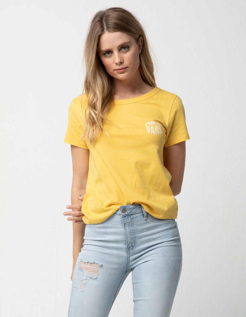 bffdce916e4 Lyst - Vans Skimmer Authentic Womens Tee in Yellow