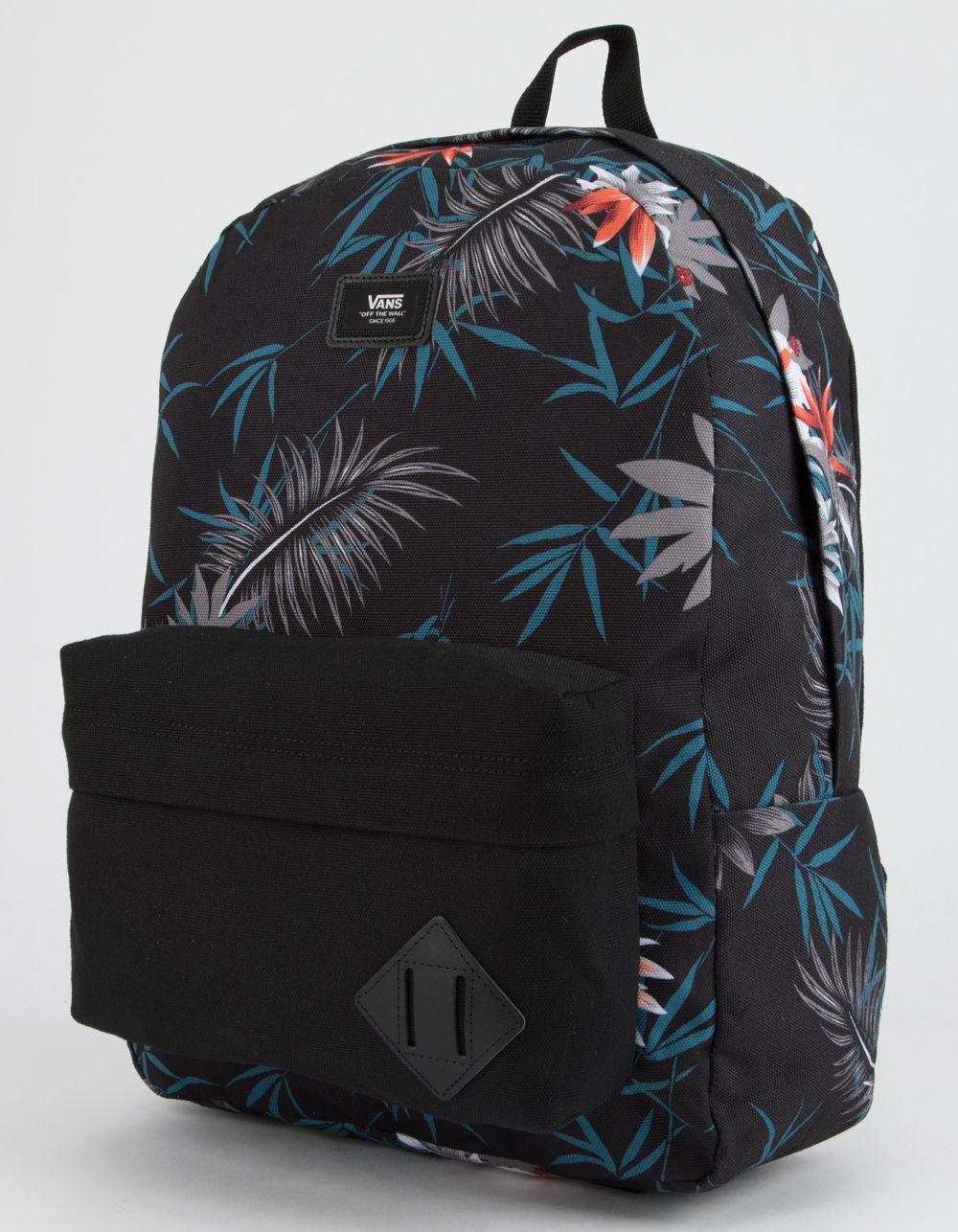 Lyst - Vans Old Skool Ii Peace Out Floral Backpack in Black 6b27be234