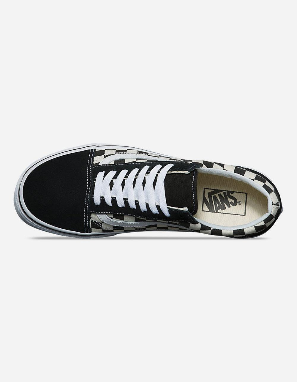 c91fc7f7d3a Vans - Primary Check Old Skool Black   White Shoes for Men - Lyst. View  fullscreen