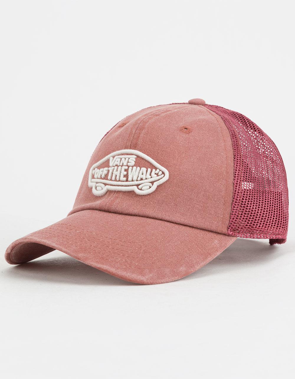 28b0f85e03d Lyst - Vans Acer Burgundy Womens Trucker Hat in Pink for Men