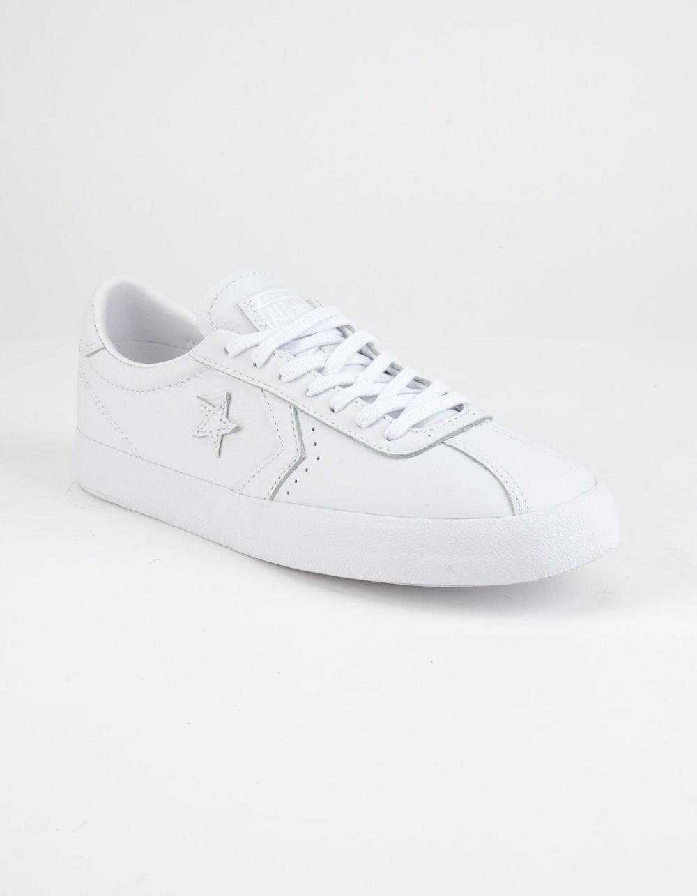 092219ad0a06 Lyst - Converse Breakpoint Leather Womens Low Top Shoes in White