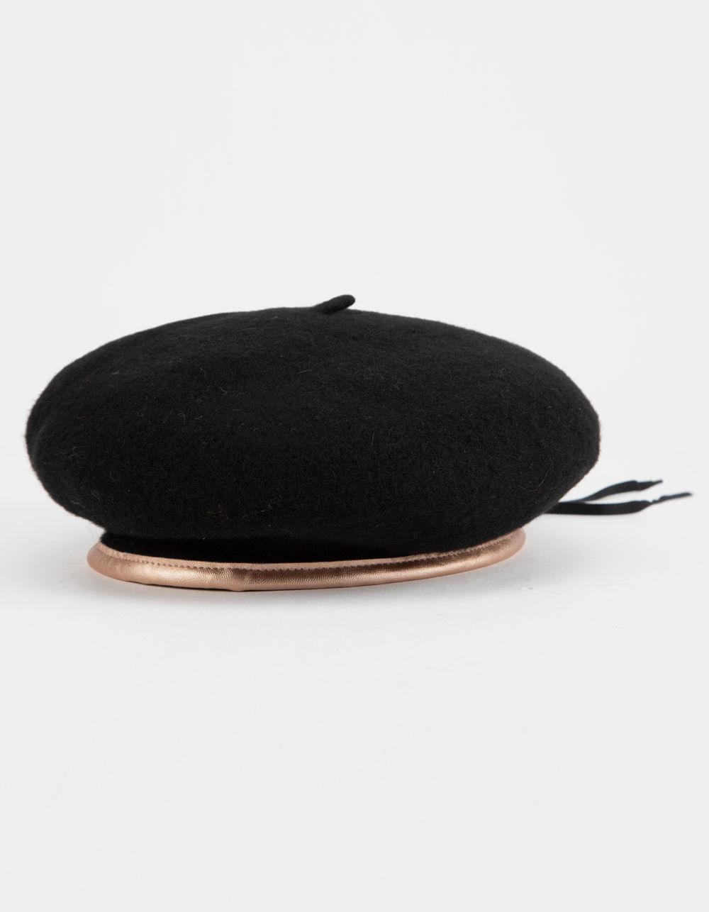 81f7a6673a5cd Lyst - Brixton Lennon Beret (blush) Caps in Black - Save ...