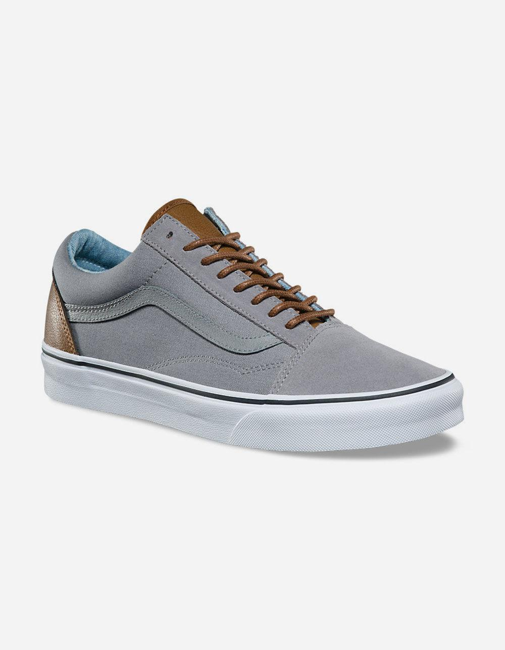Lyst - Vans C l Old Skool Frost Grey   Acid Denim Mens Shoes in Gray ... 0f2de895c