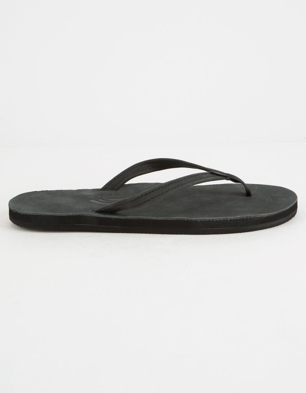 e9a88b703d60 Lyst - Rainbow Sandals Narrow Strap Black Womens Sandals in Black