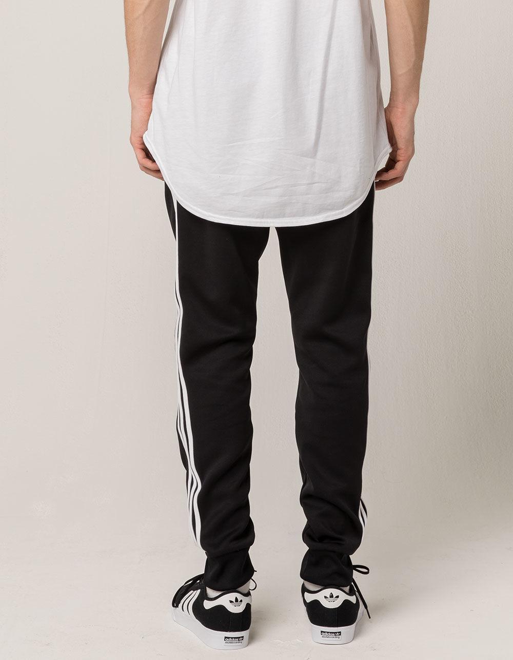 0f8e11093 adidas 3 Stripe Blackbird Mens Sweatpants in Black for Men - Lyst
