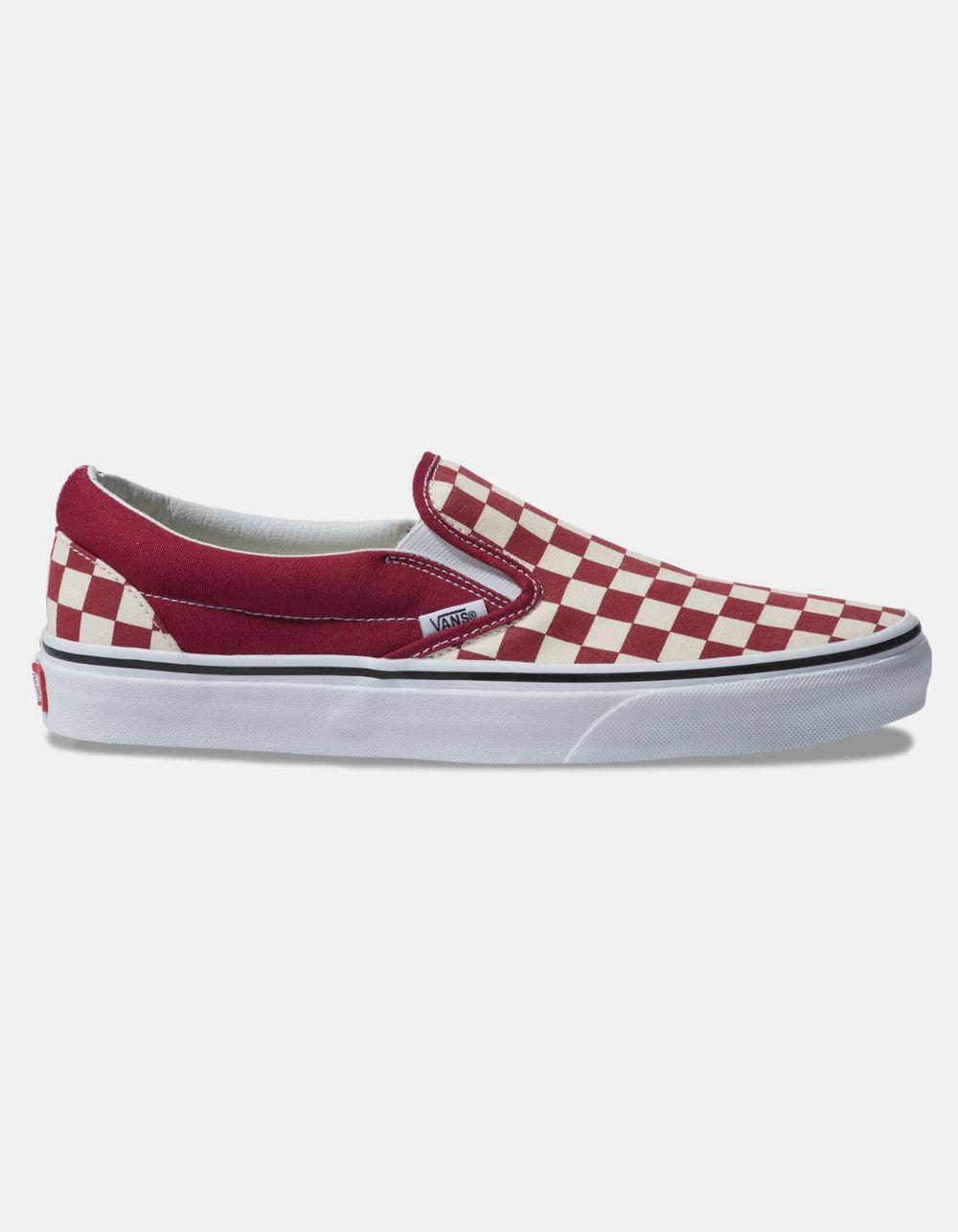 Lyst - Vans Checkerboard Classic Slip-on Rumba Red   True White ... 0c6d8a90a