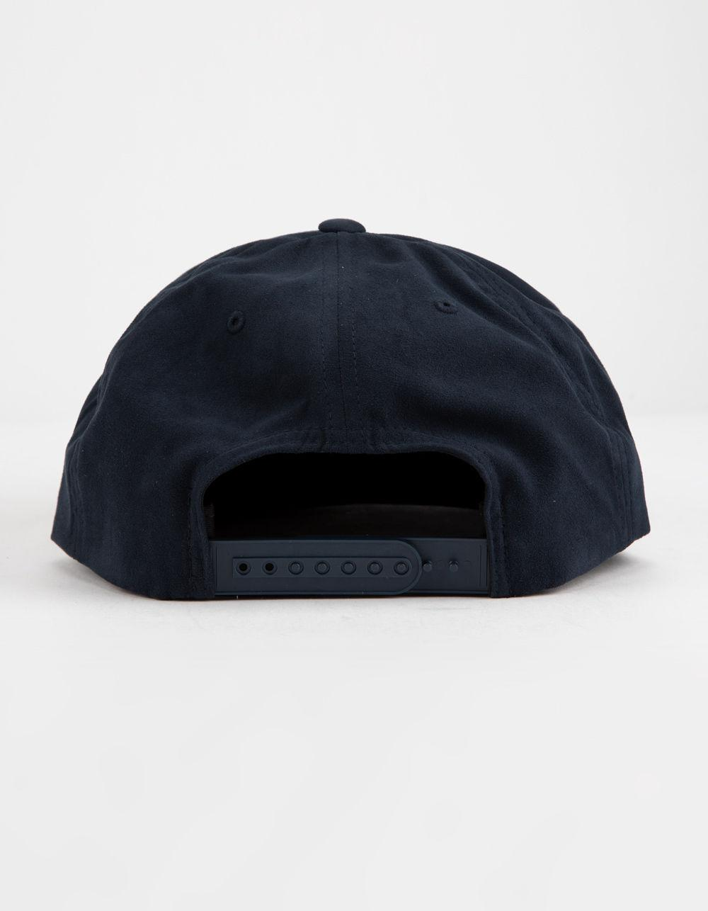 20acb3cff05 Lyst - Brixton Wheeler Suede Navy Mens Snapback Hat in Blue for Men