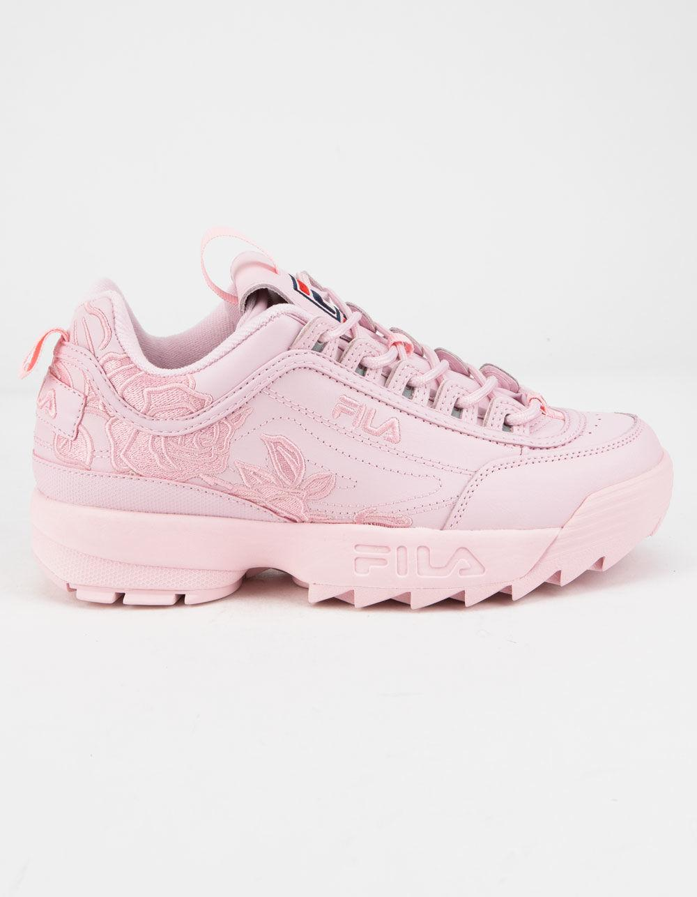 192ec49faf01 Lyst - Fila Disruptor 2 Embroidery Pink Womens Shoes in Pink