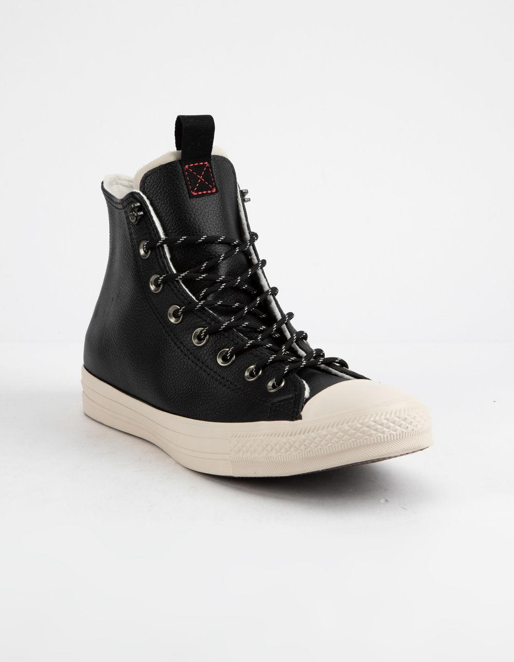 6184eba1b364 Lyst - Converse Chuck Taylor All Star Leather Black   Driftwood High Top  Shoes in Black for Men