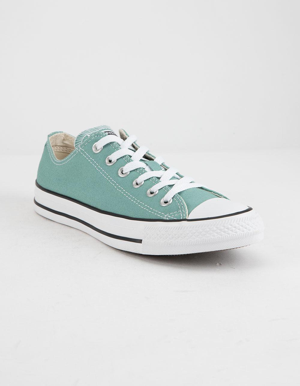 c9a1bbbaf9b Lyst - Converse Chuck Taylor All Star Mineral Teal Low Top Womens Shoes in  Blue