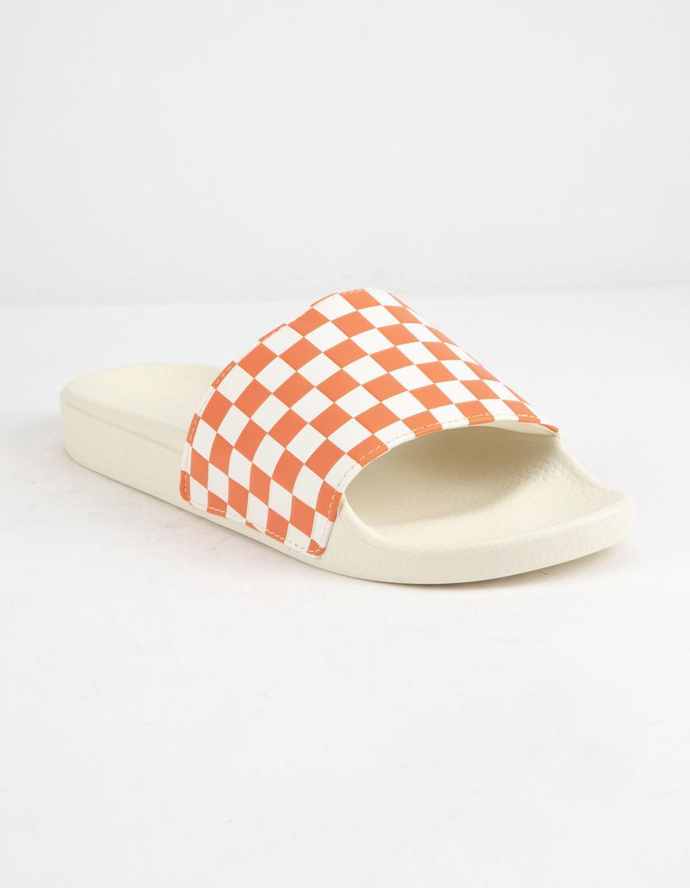 d1657cefe9a1f8 Lyst - Vans Checkered Rust Womens Slide Sandals - Save 41%