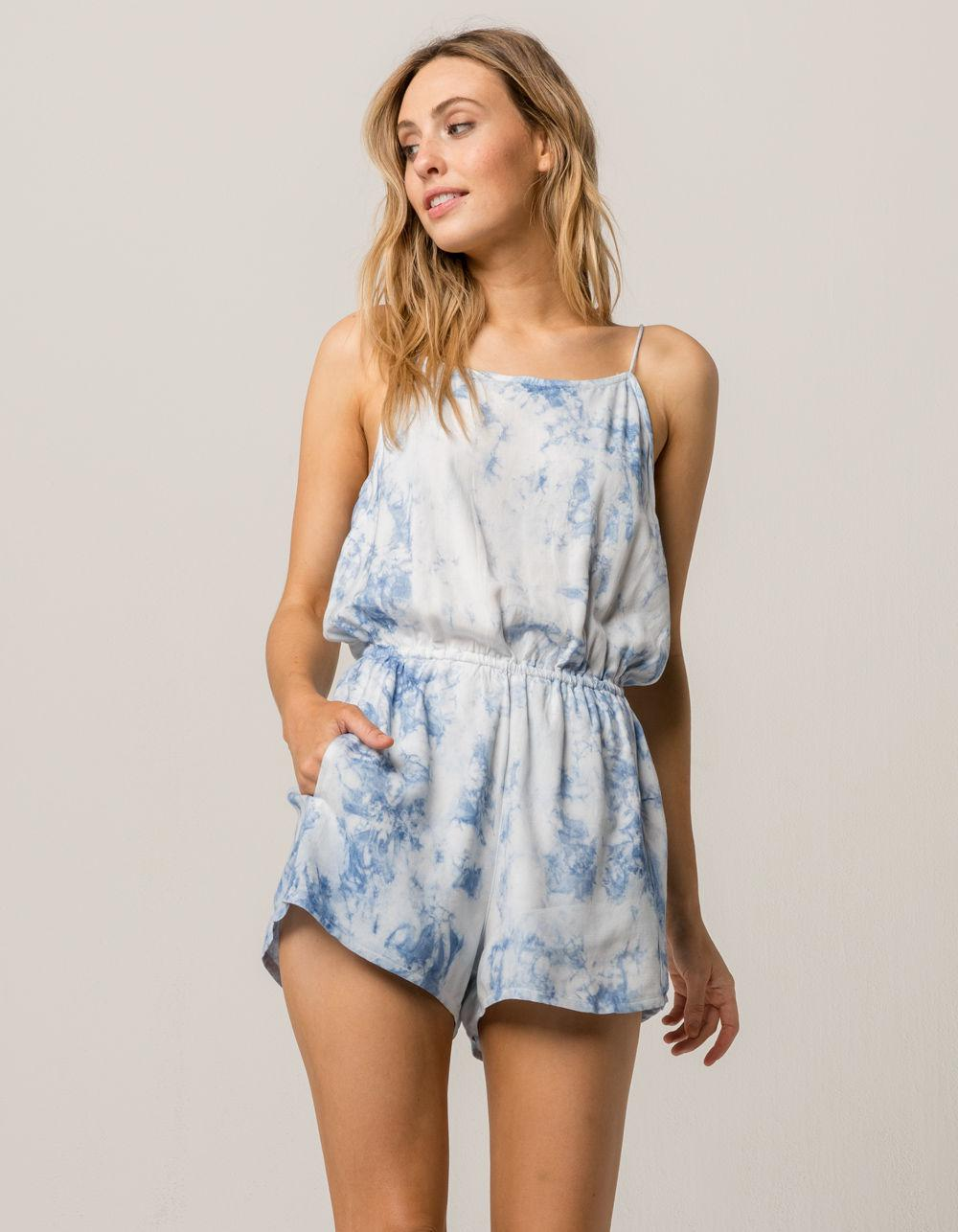 d9dc5bf1d2 Lyst - RVCA Milly Womens Romper in Blue