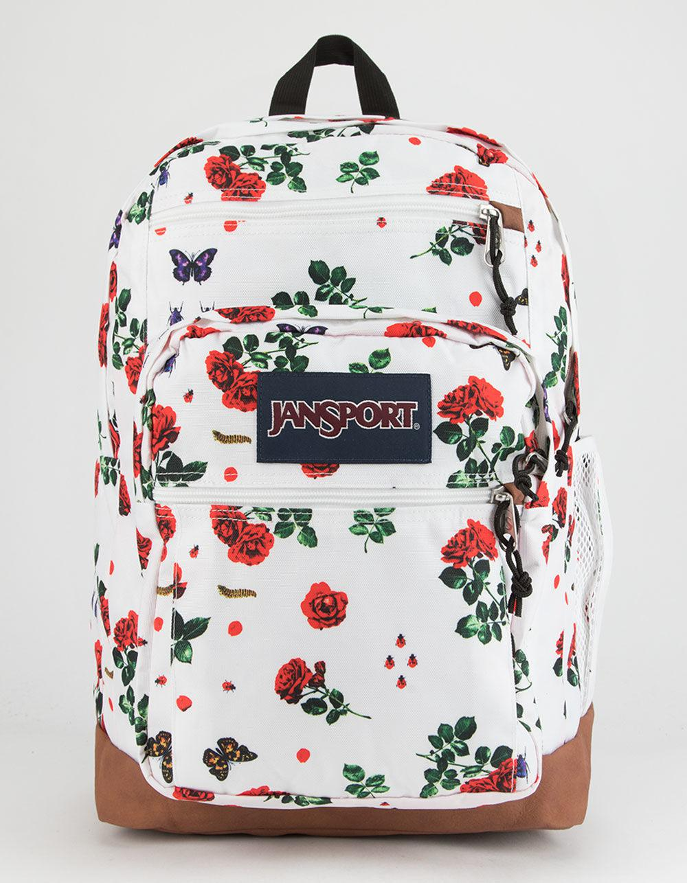 Lyst - Jansport Cool Student Rose Garden Backpack in White a4ef44870f4cb