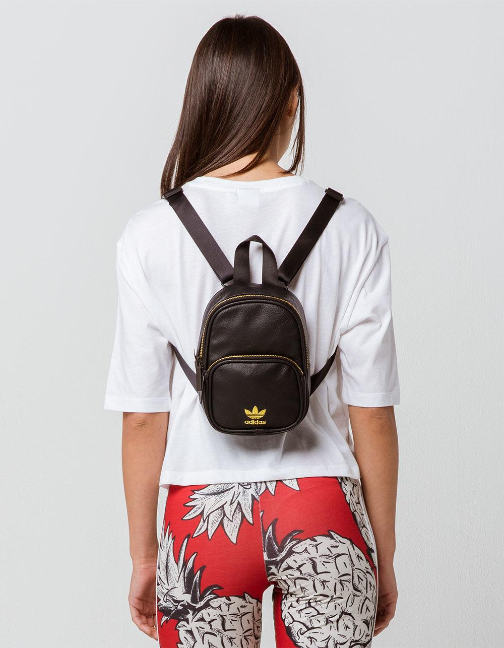 buy online 17519 ccbf6 adidas Originals Faux Leather Black Mini Backpack in Black - Lyst