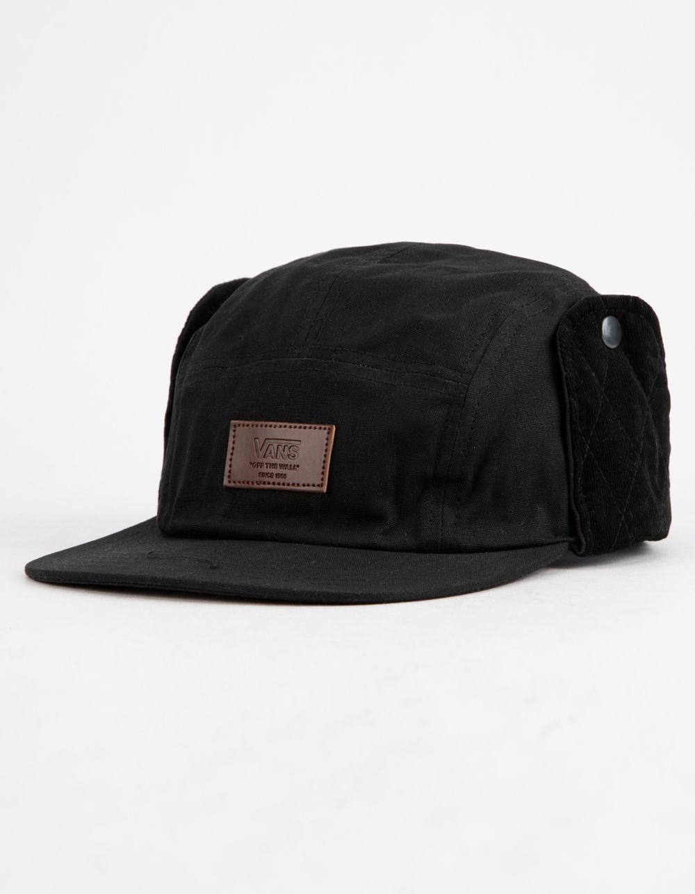 8f131442177 Vans - Black Flap 5-panel Mens Camper Hat for Men - Lyst. View fullscreen