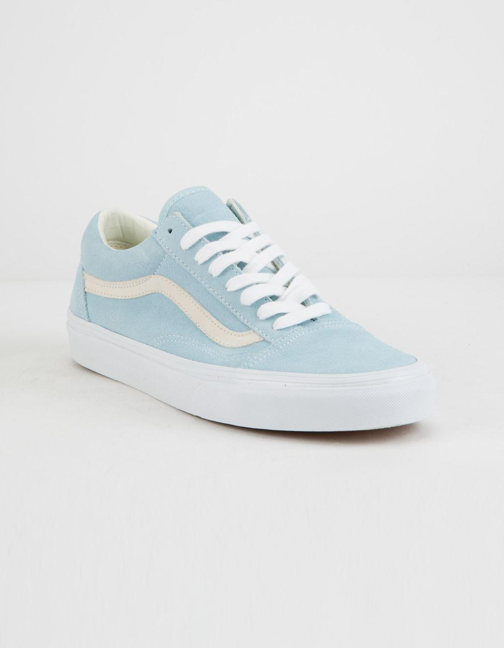 b58a5e2a17bbcb Lyst - Vans Pastel Suede Old Skool Crystal Blue Womens Shoes in Blue