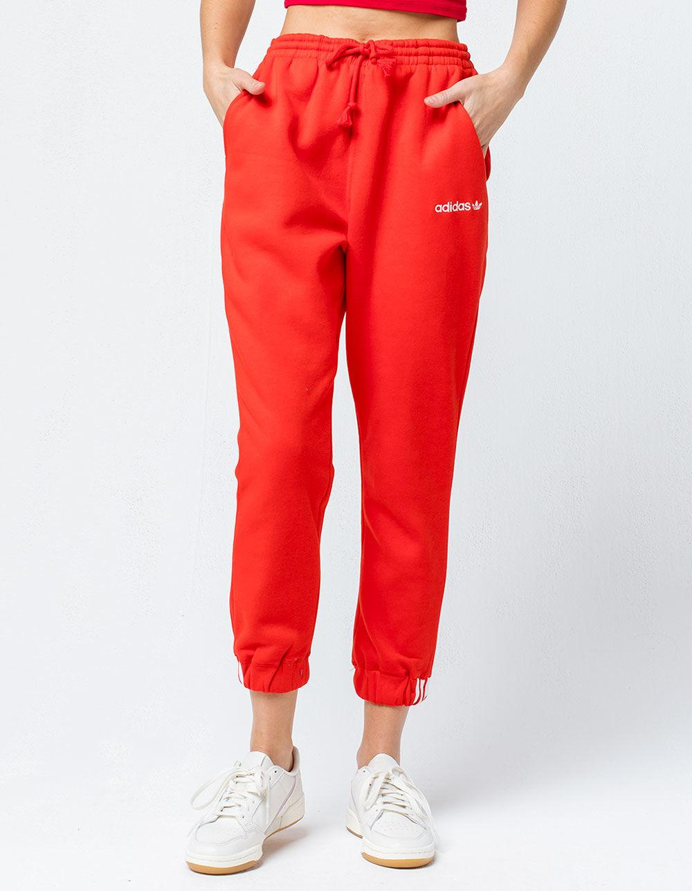 new style 5a129 cbb3a adidas Coeeze Red Womens Jogger Pants in Red - Lyst