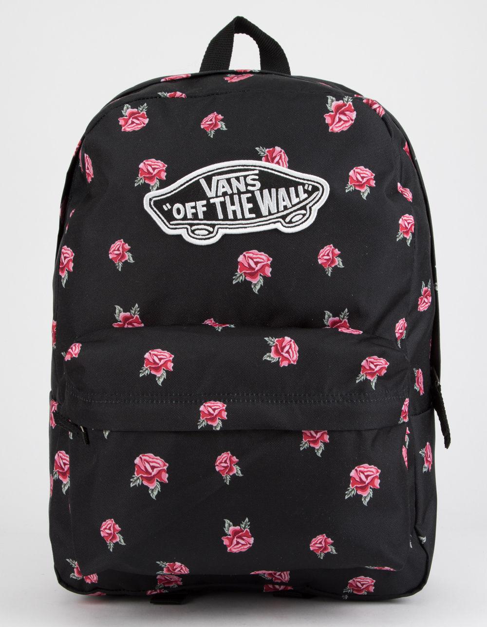 db1ef3da4e8 Vans Realm Black & Rose Backpack in Black - Lyst