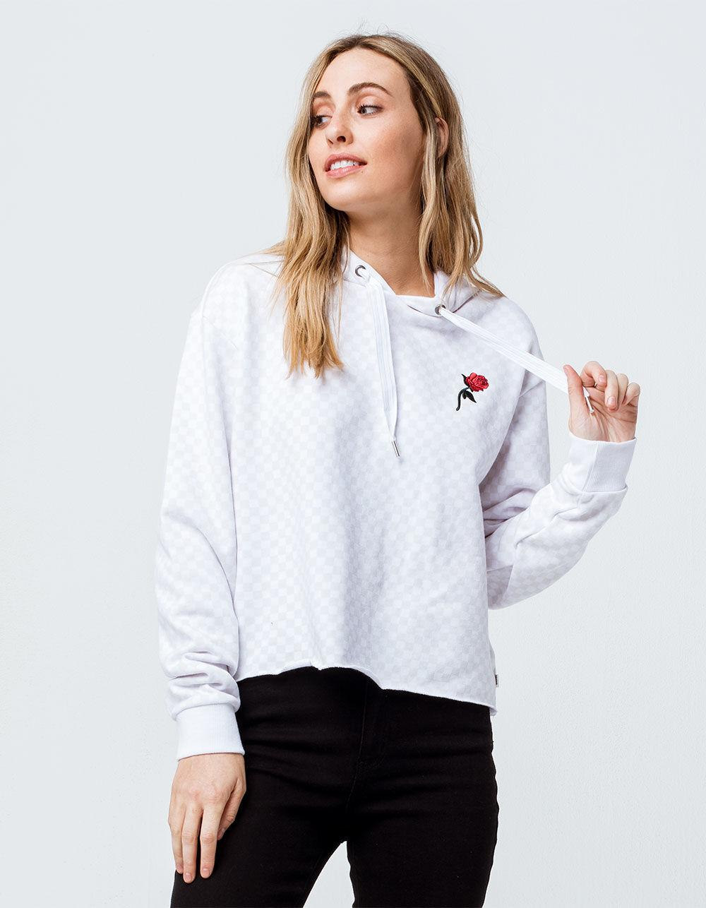 b760026119e Lyst - Vans The Leila Check Hoodie In White Checkerboard in White ...