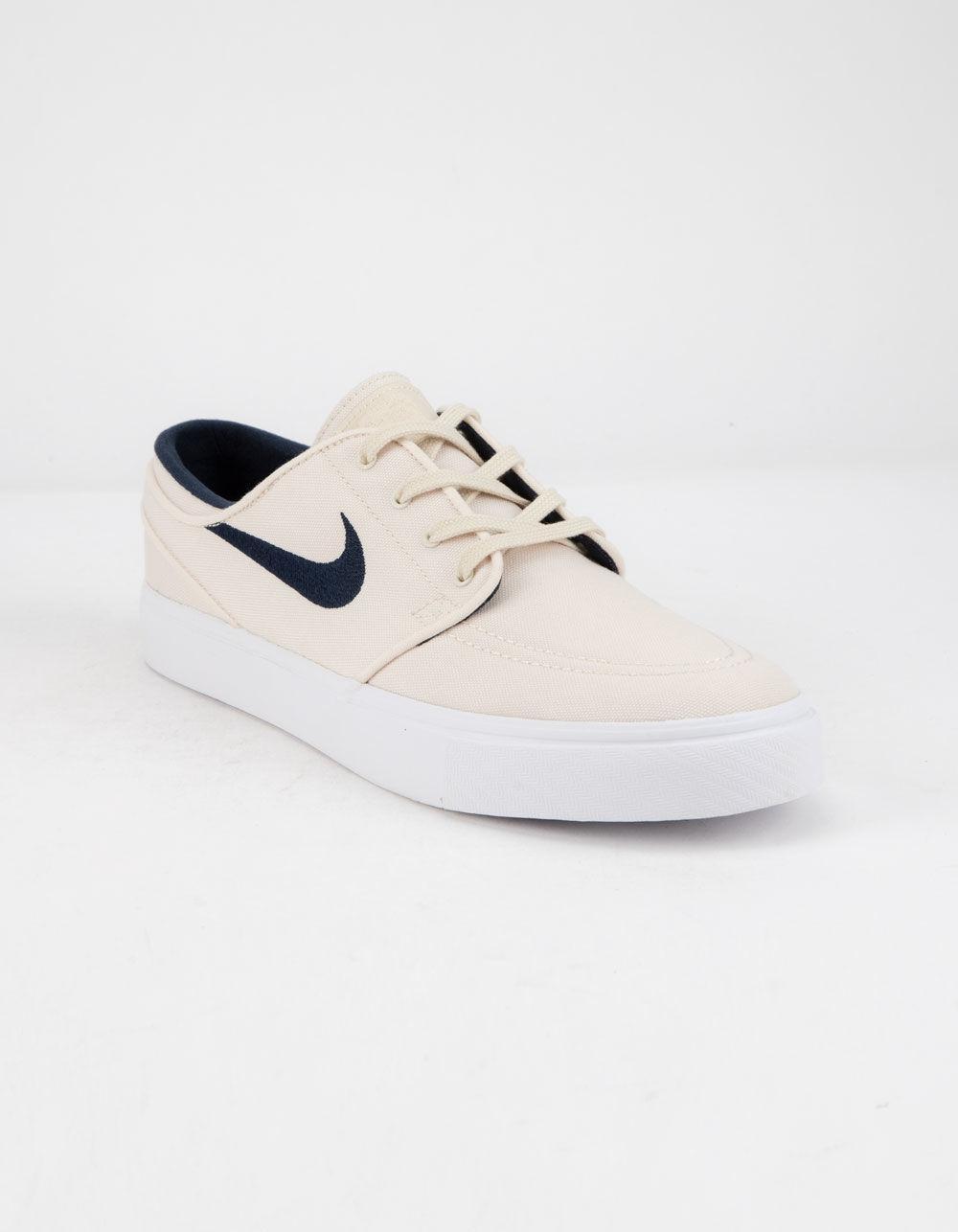 9a0a61ba219f Lyst - Nike Sb Zoom Stefan Janoski Canvas Light Cream   Obsidian White Mens  Shoes in White for Men